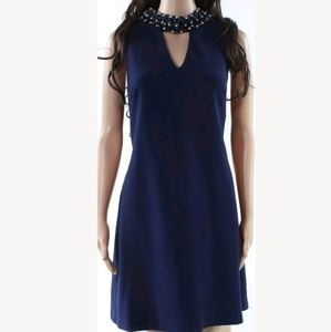 RSVP Semi formal blue dress w embellished choker